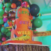 Let's Get Wild 3 Tier Cake