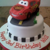 Lightening McQueen sugar model