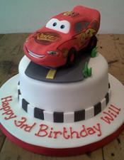 Lightening McQueen Disney Cars birthday cake
