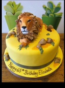 3D Lion birthday cake
