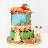 Lion King 3 tier cake