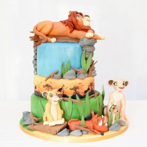 Lion King Simba tiered birthday cake Cakes by Robin