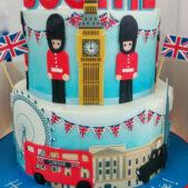 London Theme Birthday Cake