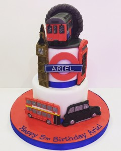 London transport themed birthday cake