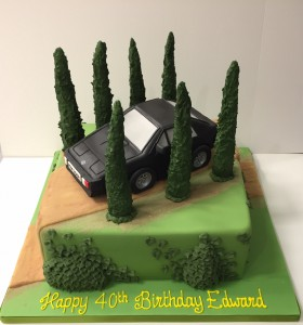 Lotus Espirit car cake