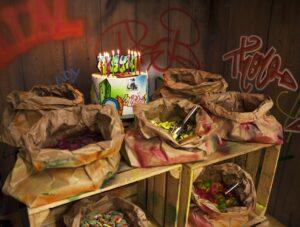 Dessert table graffiti birthday party