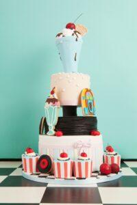 50s diner cake