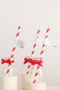 Cute straws are a fab addition as well as milk bottles