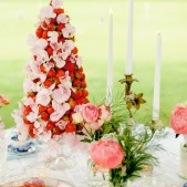 Strawberry Tower cake