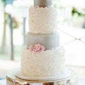 Cakes by Robin ruffled wedding cake