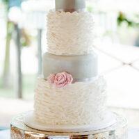 Cakes by Robin ruffled wedding cake