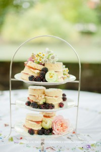 Individual miniature naked cakes
