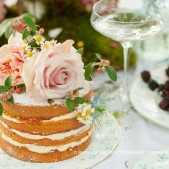 Maria de Faci multi tier naked wedding cake