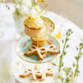 Vintage Style Afternoon Tea Stand With Large Buttercream Cupcake