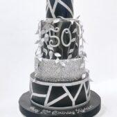 Masculine 5 tier cake