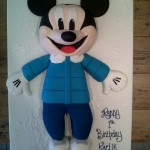 Mickey Mouse Ice Skates birthday cake