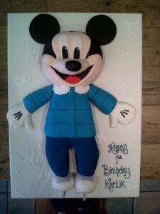 Mickey Mouse Ice Skates birthday cake