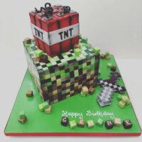 Minecraft TNT cake image
