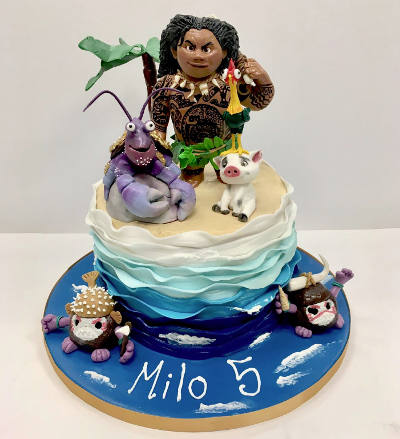 We Handmake All Of Our Cakes To Your Exact Specifications Have A Fabulous Selection Flavours And Fillings Choose From Ensure Moana Cake Is