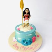 Moana themed 4th birthday cake