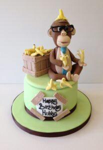 monkey cake birthday