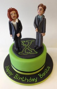 X-Files themed birthday cake