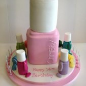 Nail varnish cake