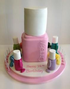 Nail varnish birthday cake