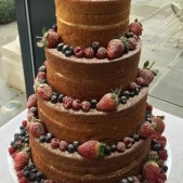 Naked cake with fruit
