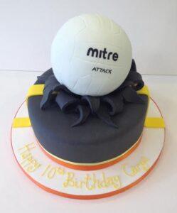 Netball themed birthday cake