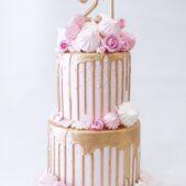 No fondant cake – 21st birthday celebration cake