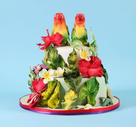 Novelty wedding cakes - Parrots