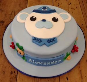 Captain Barnacles Octonaut birthday cake