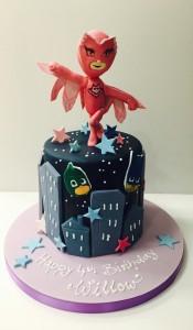 Owlett from PJ Masks birthday cake