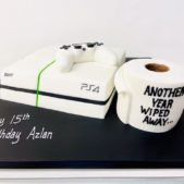 PS4 themed cake