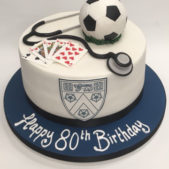 Pastime Cakes 8 – Happy 80th Birthday Football