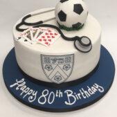 Pastime Cakes 8 – Happy 80th Birthday Football