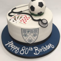 Pastime Cakes 8 - Happy 80th Birthday Football
