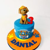 Paw Patrol themed 3rd birthday cake