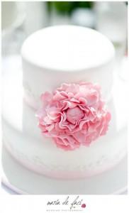 Peony flower christening cake