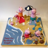 Peppa and family at the beach