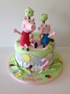 Peppa Pig and George birthday cake