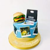 Personalised 17th birthday cake image