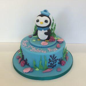 Octonauts birthday cake Peso Penguin
