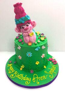 Pink Character Birthday Cake