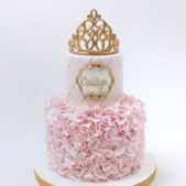Pink Princess Cake with Tiara