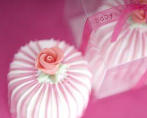 Baby girl miniature cakes