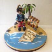 Pirate on an island