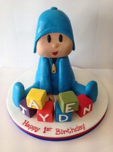 Pocoyo birthday cake 3D