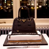 Prada handbag birthday cake